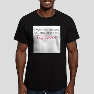 Cute Big Sister - Men's Fitted T-Shirt (dark)