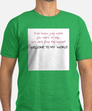 My World of Apraxia - Men's Fitted T-Shirt (dark)
