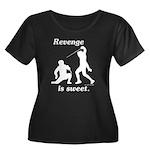 Revenge Women's Plus Size Scoop Neck Dark T-Shirt