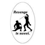 Revenge Oval Sticker (10 pk)