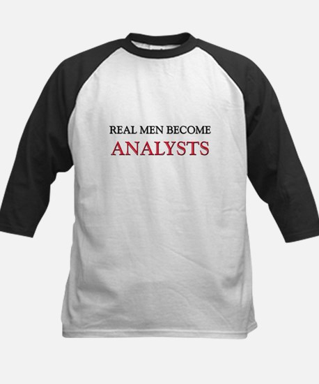 Real Men Become Analysts Kids Baseball Jersey