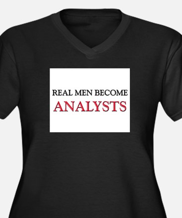 Real Men Become Analysts Women's Plus Size V-Neck