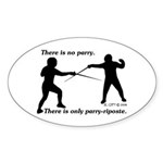 Parry-Riposte Oval Sticker