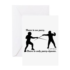 Parry-Riposte Greeting Card