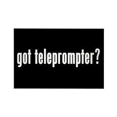 got teleprompter? Rectangle Magnet (10 pack)