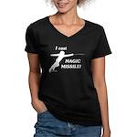 Magic Missile Women's V-Neck Dark T-Shirt