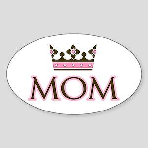 Queen Mom Oval Sticker
