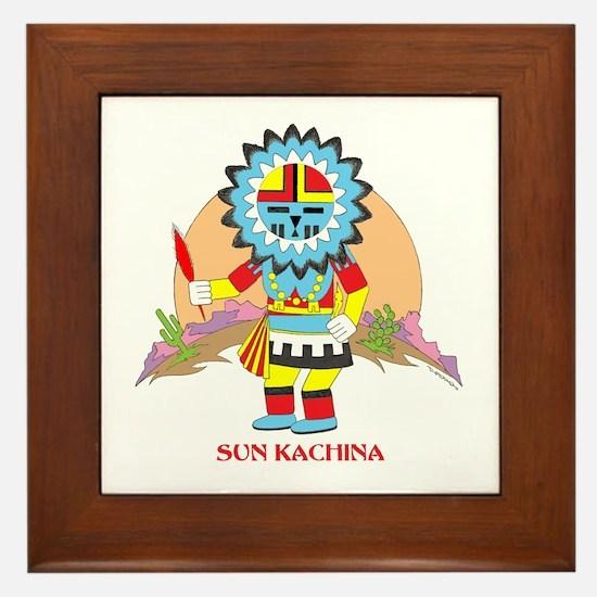 SUN KACHINA Framed Tile