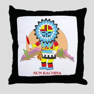 SUN KACHINA Throw Pillow