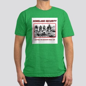 Homeland Security Native Men's Fitted T-Shirt (dar