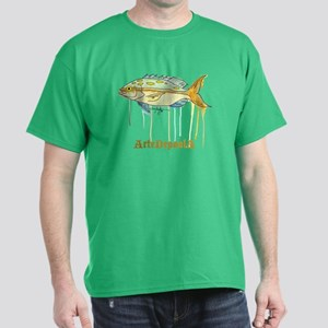 Yellowtail Snapper Fish Dark T-Shirt