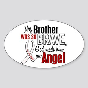 Angel 1 BROTHER Lung Cancer Oval Sticker