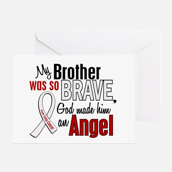 Angel 1 BROTHER Lung Cancer Greeting Card