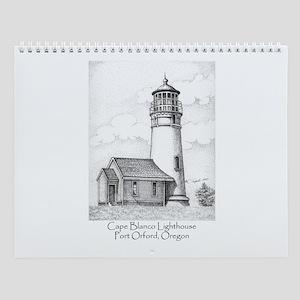 Cape Blanco Lighthouse Wall Calendar