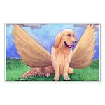 Golden Angel Rectangle Sticker