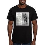 Sitting Bull Quote Men's Fitted T-Shirt (dark)