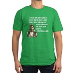 Treat all men alike Men's Fitted T-Shirt (dark)