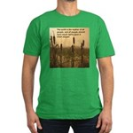 Chief Joseph Earth Quote Men's Fitted T-Shirt (dar