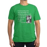 Geronimo Quote Men's Fitted T-Shirt (dark)
