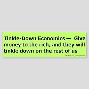 Tinkle-down Bumper Sticker
