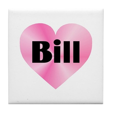 Personalized Bill Tile Coaster