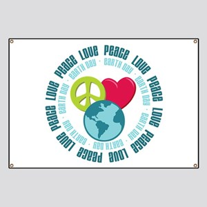 Peace Love Earth Day Banner