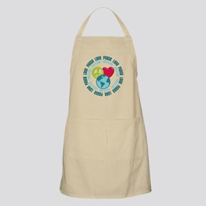 Peace Love Earth Day BBQ Apron