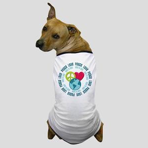 Peace Love Earth Day Dog T-Shirt