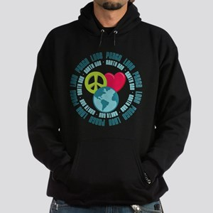 Peace Love Earth Day Hoodie (dark)