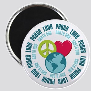 Peace Love Earth Day Magnet