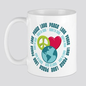 Peace Love Earth Day Mug