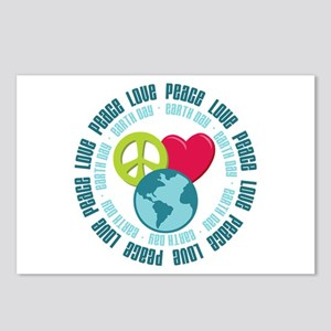 Peace Love Earth Day Postcards (Package of 8)
