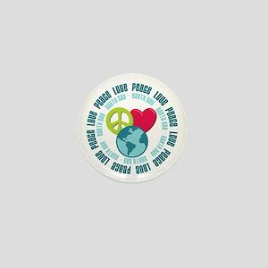 Peace Love Earth Day Mini Button