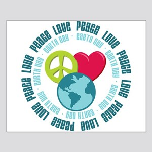 Peace Love Earth Day Small Poster