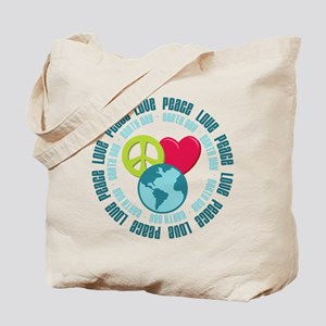 Peace Love Earth Day Tote Bag