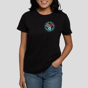 Peace Love Earth Day Women's Dark T-Shirt