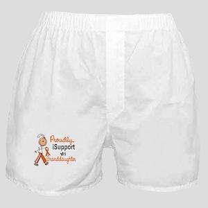 iSupport My Granddaughter SFT Orange Boxer Shorts