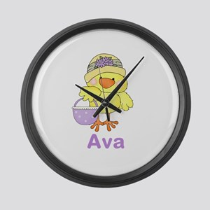 Ava's Sweet Chick Large Wall Clock