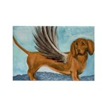 Winged Wienerdog Rectangle Magnet (10 pack)