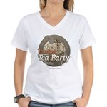 Tampa Tax Day Tea Party Women's V-Neck T-Shirt