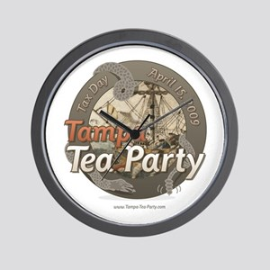 Tampa Tax Day Tea Party Wall Clock
