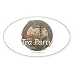 Tampa Tax Day Tea Party Oval Sticker (50 pk)