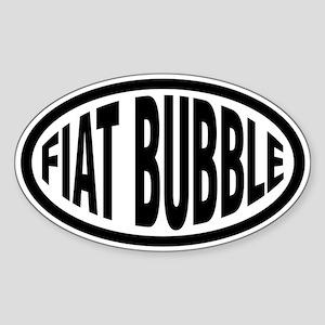 Fiat Bubble Oval Sticker
