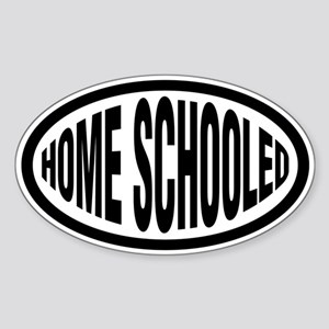 Home Schooled Oval Sticker
