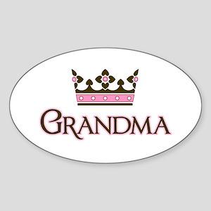 Queen Grandma Oval Sticker