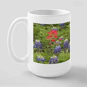 Indian Paintbrush/Blue Bonnets Large Coffee Mug
