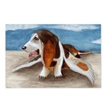 Bewinged Basset Postcards (Package of 8)