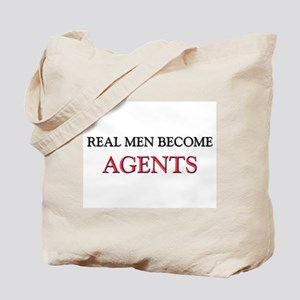 Real Men Become Agents Tote Bag