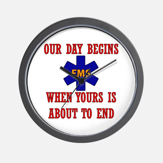 Our day begins when yours... Wall Clock