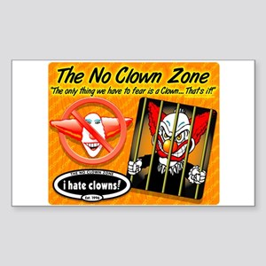 Clowns are Humor Challenged Sticker